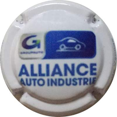 N°320 Alliance Auto industrie, blanc et bleu