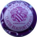 16. rose contour violet Capsule de champagne BEAUFORT Claude et Fils
