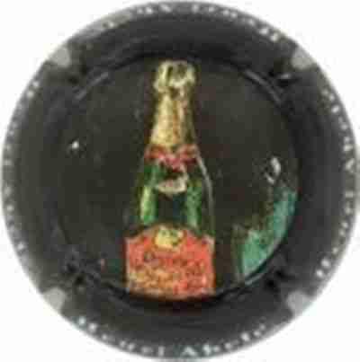 DELOZANNE n°4  blanc et bleu Capsule de Champagne cotée 8 !!!